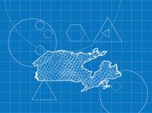 Modelo de mapas de Canadá Foto de Stock