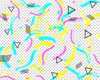 Modelo de Memphis formas geométricas flúidas 3d Ilustración del vector Estilo del inconformista Fondo enrrollado colorido del ext stock de ilustración