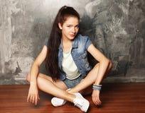 Modelo de moda, moda, adolescente Imagen de archivo libre de regalías