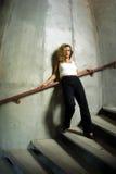 Modelo de moda atractivo Foto de archivo