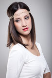 Modelo de moda con el pelo recto largo Fotografía de archivo
