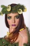 Modelo de moda de la Navidad Girl Imagen de archivo libre de regalías
