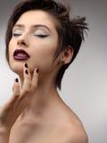Modelo de moda del estilo de Vogue de la belleza Girl Imágenes de archivo libres de regalías