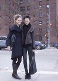Modelo de moda después de un desfile de moda en Nueva York Fotografía de archivo libre de regalías