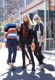Modelo de moda después de un desfile de moda en Nueva York Fotos de archivo
