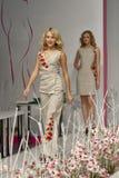 Modelo de moda en la demostración de la moda 2013 de Kyiv Imágenes de archivo libres de regalías