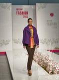 Modelo de moda en la moda 2013 de Kyiv Imágenes de archivo libres de regalías