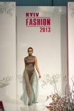 Modelo de moda en la moda 2013 de Kyiv Imagen de archivo libre de regalías