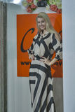 Modelo de moda en vestido pelado Fotografía de archivo libre de regalías