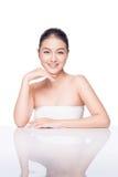 Modelo de moda Girl Face Mujer asiática joven hermosa con limpio fotografía de archivo libre de regalías