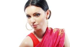 Modelo de moda hermoso indio Fotografía de archivo libre de regalías