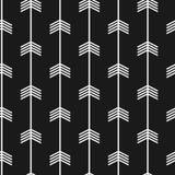 Modelo de moda inconsútil de la flecha Flechas blancos y negros Fotografía de archivo libre de regalías