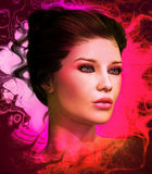 Modelo de moda rosado Foto de archivo libre de regalías