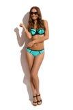 Modelo de moda sonriente In Swimsuit imágenes de archivo libres de regalías