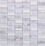 Modelo de mosaico blanco inconsútil del mármol y del vidrio del rectángulo Fotos de archivo