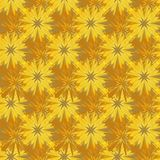 Modelo de mosaico complejo marrón amarillo inconsútil del extracto libre illustration