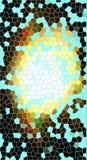 Modelo de mosaico con las líneas azules Fotografía de archivo libre de regalías