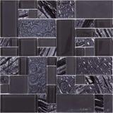 Modelo de mosaico de cristal de lujo del rectángulo inconsútil Imágenes de archivo libres de regalías
