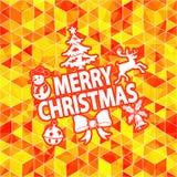Modelo de mosaico de la Navidad Imagen de archivo libre de regalías