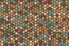 Modelo de mosaico enrrollado stock de ilustración