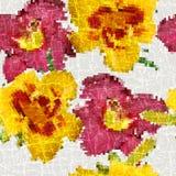 Modelo de mosaico floral inconsútil del Grunge Fotografía de archivo