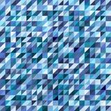 Modelo de mosaico geométrico del triángulo azul stock de ilustración