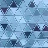 Modelo de mosaico geométrico del triángulo azul, modelo bajo poligonal ligero azul del triángulo del polígono Fotos de archivo libres de regalías
