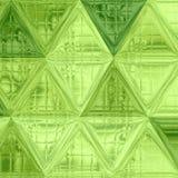 Modelo de mosaico geométrico del triángulo verde claro, modelo bajo poligonal del triángulo del polígono de la luz verde Fotos de archivo