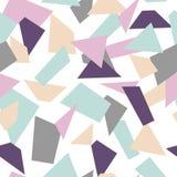 Modelo de mosaico inconsútil delicado Formas del mosaico stock de ilustración