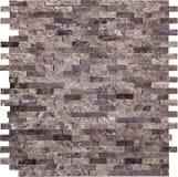 Modelo de mosaico marrón inconsútil del mármol del rectángulo Fotografía de archivo libre de regalías