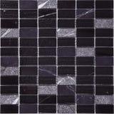Modelo de mosaico negro inconsútil del mármol del rectángulo Imagenes de archivo