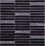 Modelo de mosaico negro inconsútil del mármol del rectángulo Foto de archivo