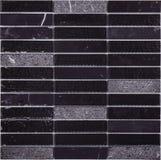 Modelo de mosaico negro inconsútil del mármol del rectángulo Imágenes de archivo libres de regalías
