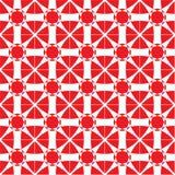Modelo de mosaico rojo Imagen de archivo