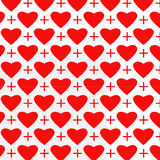 Modelo de muchos corazón Fotografía de archivo libre de regalías