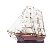 Modelo de navio da navigação isolado no branco Fotografia de Stock Royalty Free