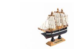 Modelo de navio de madeira velho Imagens de Stock