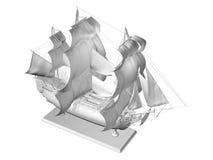 Modelo de navio plástico ilustração do vetor