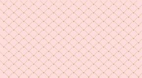 Modelo de niña inconsútil Corona del oro en fondo rosado Foto de archivo libre de regalías