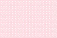Modelo de niña inconsútil Estrellas blancas en fondo rosado Imagen de archivo libre de regalías