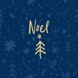 Modelo de Noel del vector, ornamento, tema festivos de la Navidad y del Año Nuevo ilustración del vector