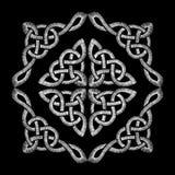Modelo de nudo céltico bordado Ornamento tradicional del collar del bordado Diseño de moda needled ilustración del vector