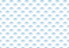 Modelo de onda azul de la pendiente del semicírculo del extracto en el fondo blanco ilustración del vector
