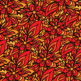 Modelo de ondas a mano del vector abstracto, fondo floral ondulado libre illustration