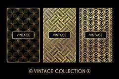 Modelo de oro del vintage en fondo negro Imagenes de archivo