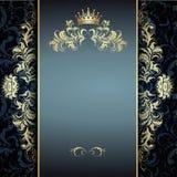 Modelo de oro elegante en azul Imagenes de archivo