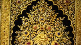 Modelo de oro de la alfombra almacen de video