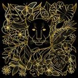 Modelo de oro de la pantera libre illustration