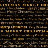 Modelo de oro de Mery Christmas ilustración del vector