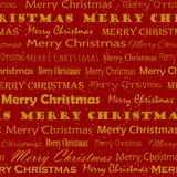Modelo de oro de Mery Christmas stock de ilustración